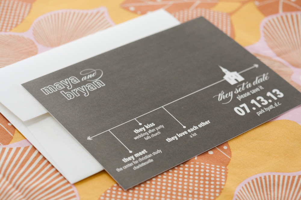 Modern Save Date Cards